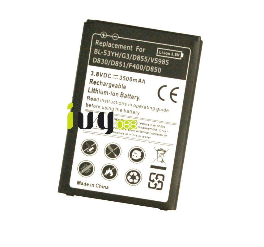 3500mAh BL-53YH استبدال البطارية لشركة إل جي G3 D855 F400 F460 D830 VS985 D850 D851 D855 D858 D859 LS990 بطاريات Batteria