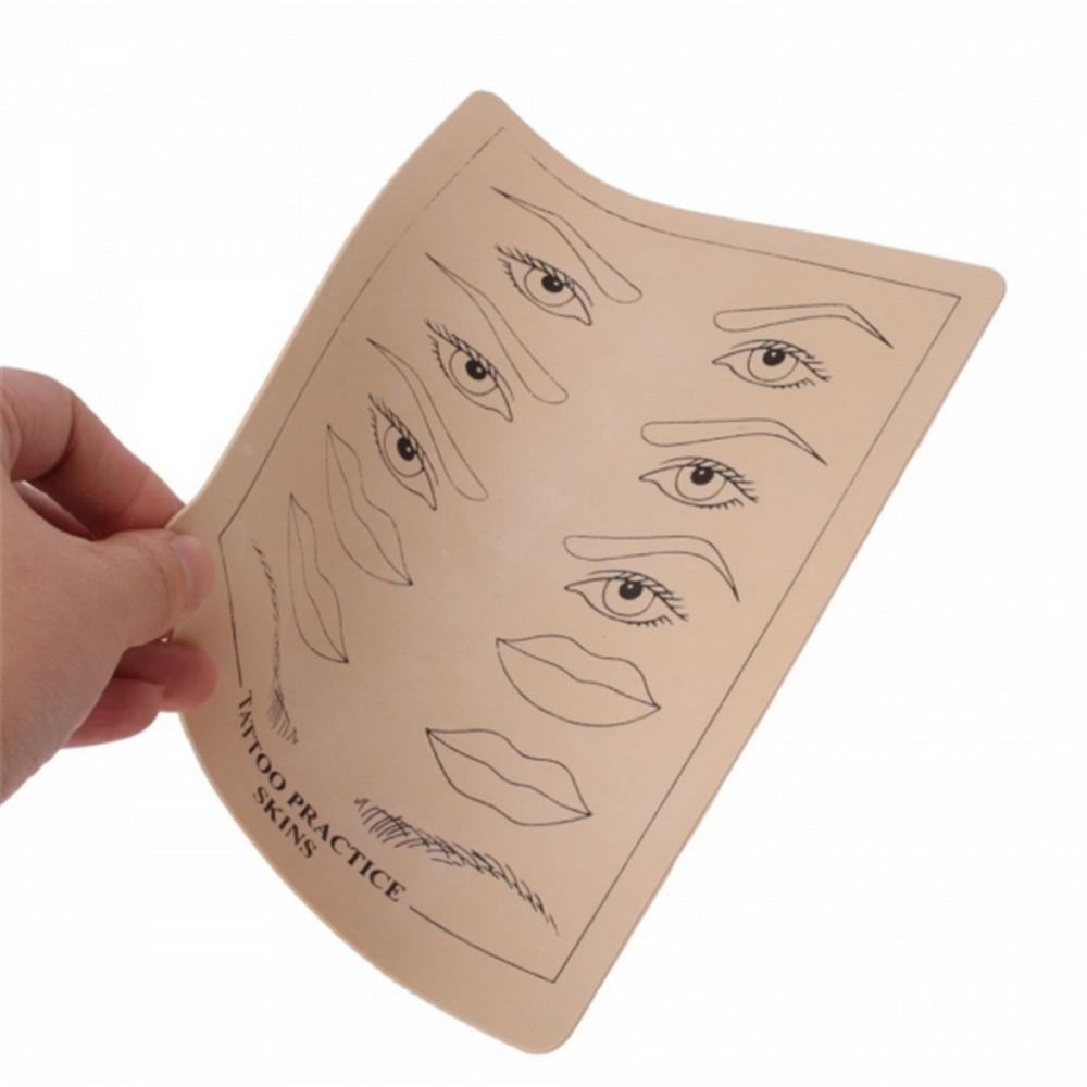 Wholesale-Top Quality Permanent Makeup Eyebrow lips Tattoo Practice Skin Training Skin Set For Beginners free ship