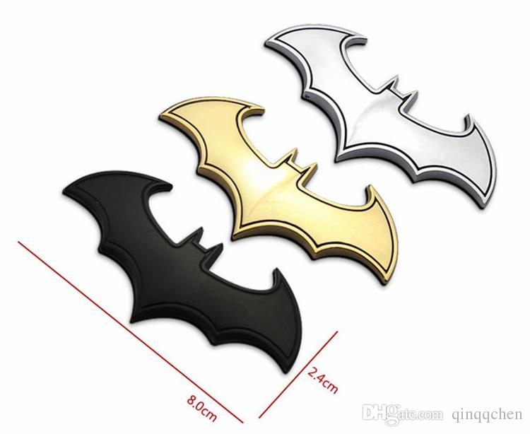3D Cool Metal bat auto logo car styling car stickers metal batman badge emblem tail decal motorcycle car accessories