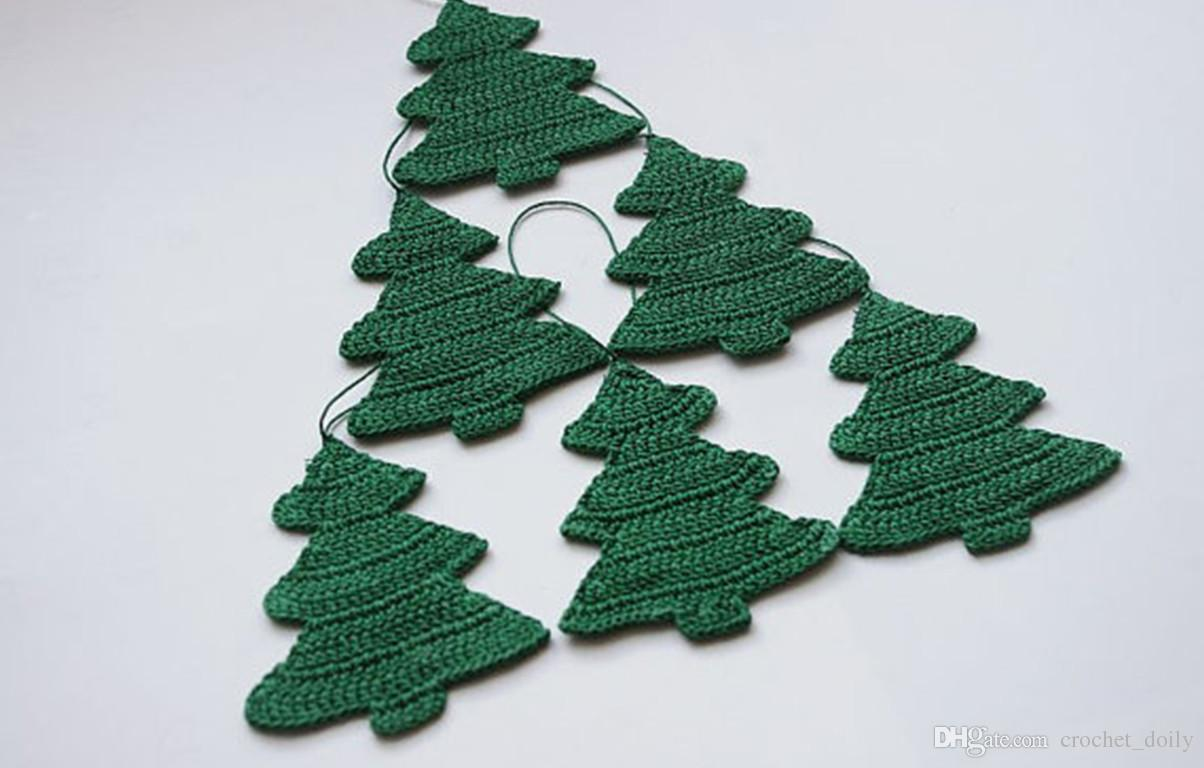 Crochet Christmas Tree.9 99 White Christmas Ornaments Crochet Christmas Decorations Hanging Christmas Tree Set Of 12 Discount Holiday Decorations Discount Outdoor