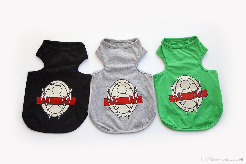 Y89 Cute Summer Pet Dog Vest Clothes Puppy dog Cartoon tortoise pattern cotton T-shirt Vest Clothing pet supplies Free shipping