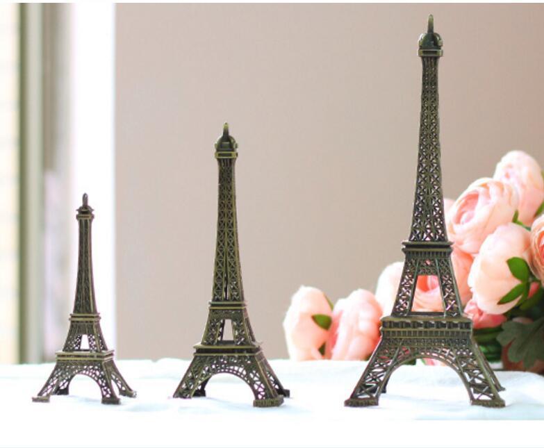 Top vendendo metal modelo Torre Eiffel para decoração de casa 1 conjunto = 3 pcs