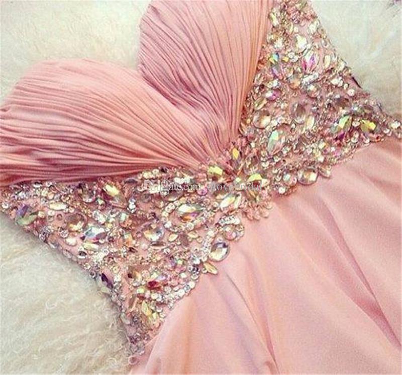 Compre Vestido De Fiesta De Color Rosa Pálido Caliente Vestido De ...