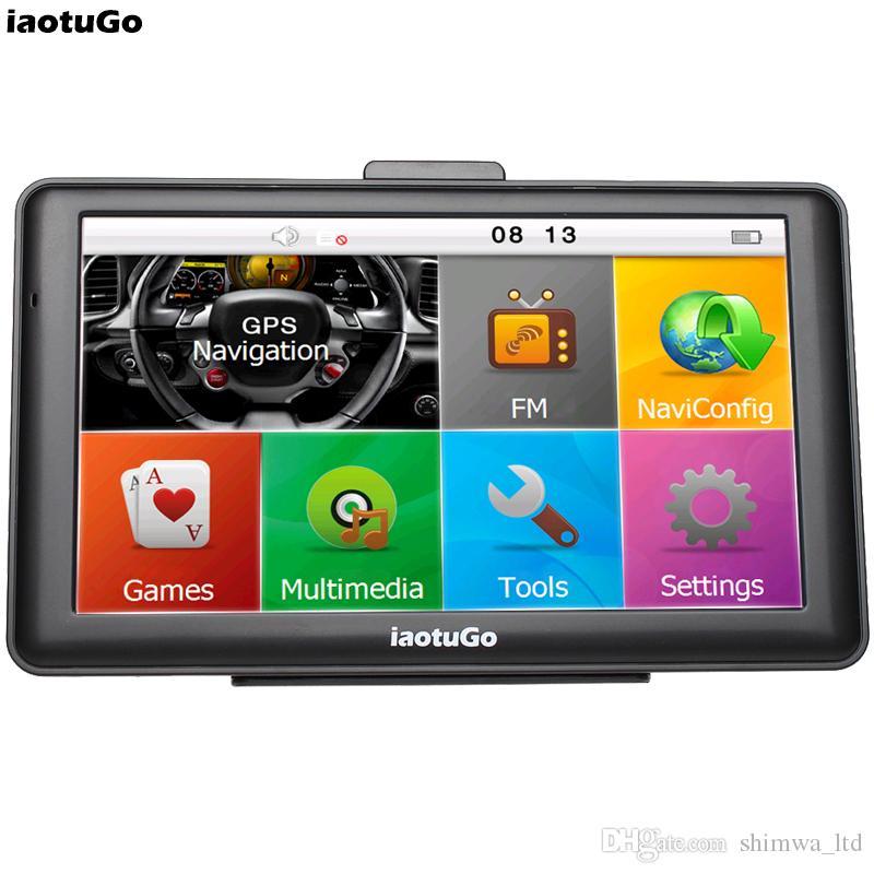 "iaotuGo 7"" Capacitive Car GPS Truck Navigator 256M 8G Bluetooth AVIN FM HD 800*480"