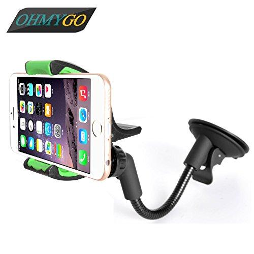 Car Phone Holder Suction Windshield Dashboard Vehicle Mount Stand for Iphone Samsung Xiaomi HTC Lenovo etc.3.5-6.3