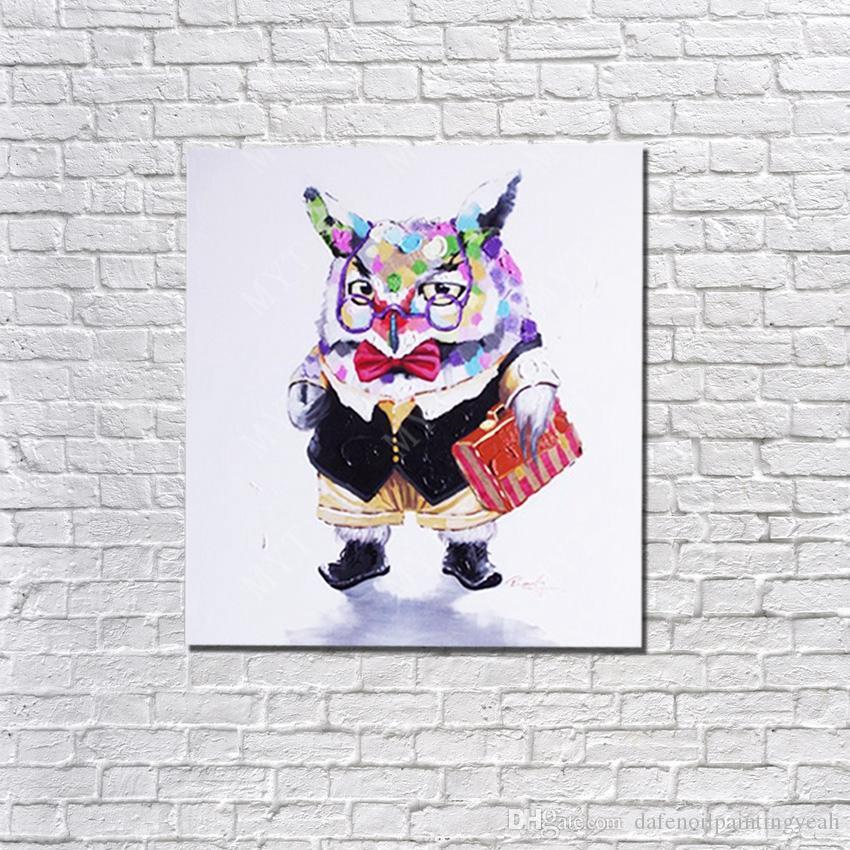손 화포 동물성 유화 추상적인 현대 화포 벽 예술 거실 장식 그림에 한 유화