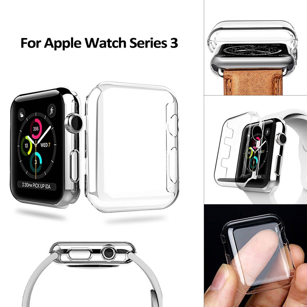 the best attitude cc2af 36ff2 38mm 42mm Ultra Thin Crystal Clear Hard Full Cover Case For Apple Watch  Series 3 Full Screen Protector Transparent Coque Fundas Phone Case Custom  ...