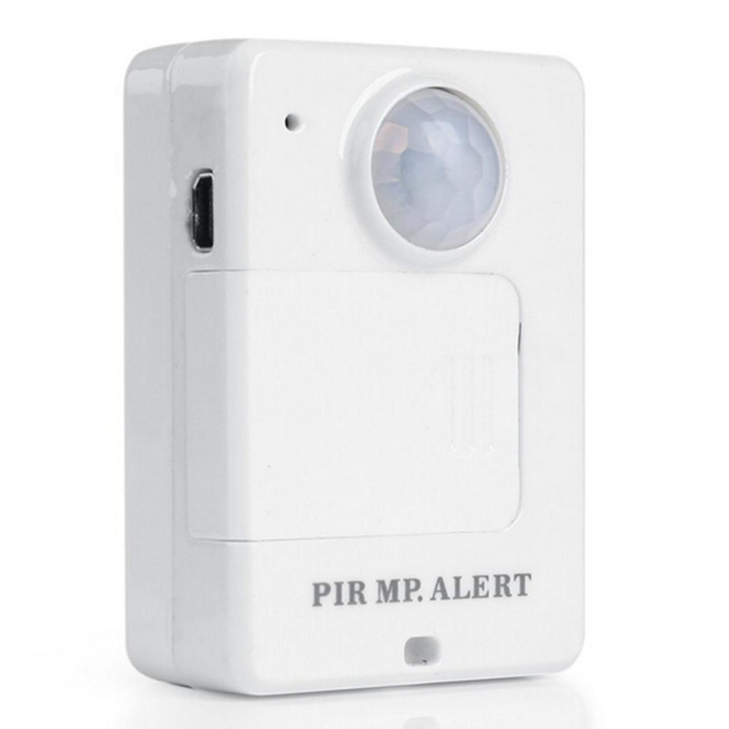 Portable Motion Dection Mini PIR Alert Infrared GSM Alarm A9 White with Call Back Function for Home Security