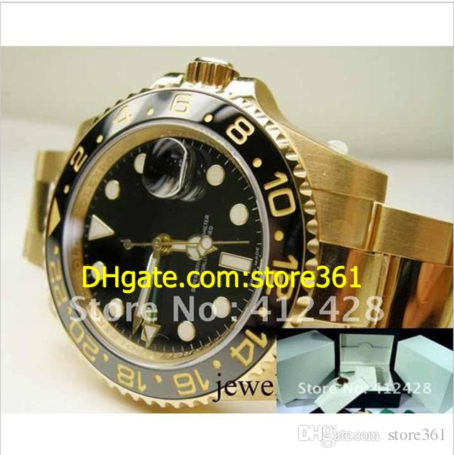 men's 18K Gold Stainless Steel GMT ceramic bezel ref 116718 Dial Automatic Sapphire Glass 2012 wristwatches Original Box File