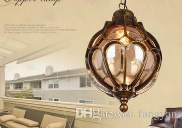 outdoor balcony glass ball chandeliers European grape waterproof aluminum Chandelier E27 bulb