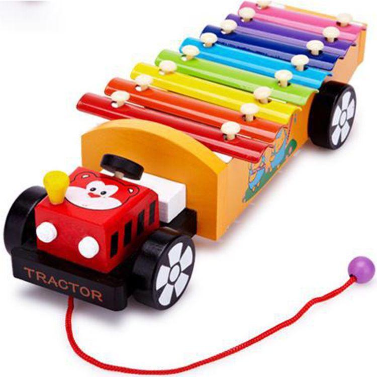 Crianças 8-nota brinquedos musicais de madeira ajuda de ensino criança início educacional sabedoria desenvolvimento instrumento de música do bebê brinquedos presente