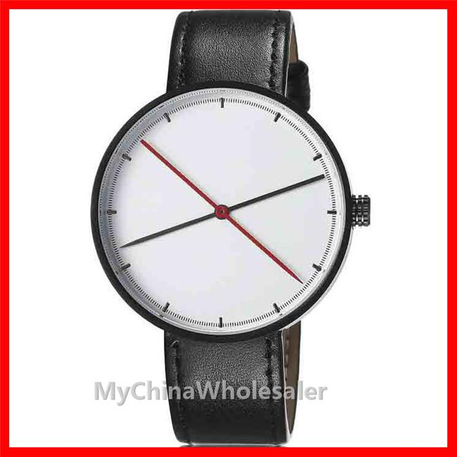 New Arrival Concise Watches Women Luxury Modern Casual Watch Leather WristBand Quartz Relogio Watch Luxury No Number Second Hand chronograph