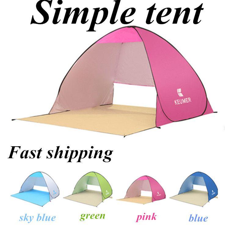 Tenda della spiaggia fresca all'aperto Tende le tende di estate all'aperto 2016 Ripari di campeggio per due persone Doppia asta di alluminio contro trasporto veloce di DHL