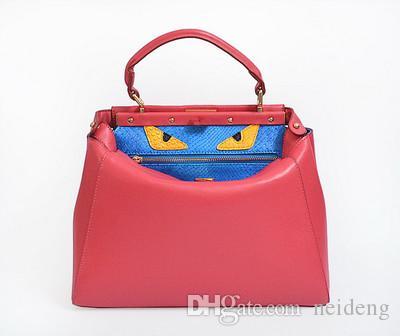 2017 New Euramerican moda borsa tracolla designer in vera pelle famoso carino mostro hangbags borsa donna borse in pelle