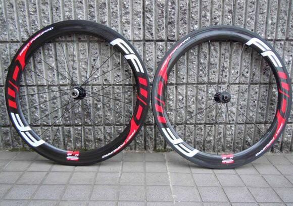 New Ffwd 60mm Bicycle Wheels Fast Forward 700c Red Carbon Fiber Road Bike Racing Wheelset Clincher Tubular