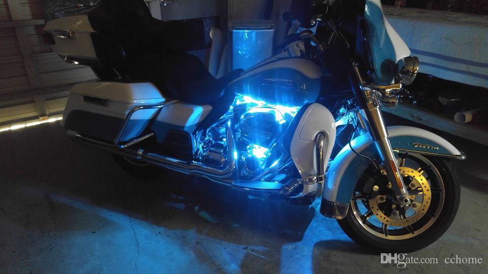 10pc 18 Color Change Led Electra Glide Motorcycle Led Neon Strip//Pod Light Kit
