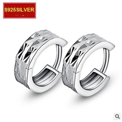 S925 orecchini gioielli in argento sezione moda orecchini in argento sterling orecchini con fibbia orecchio al cento per cento grafico colpo reale th