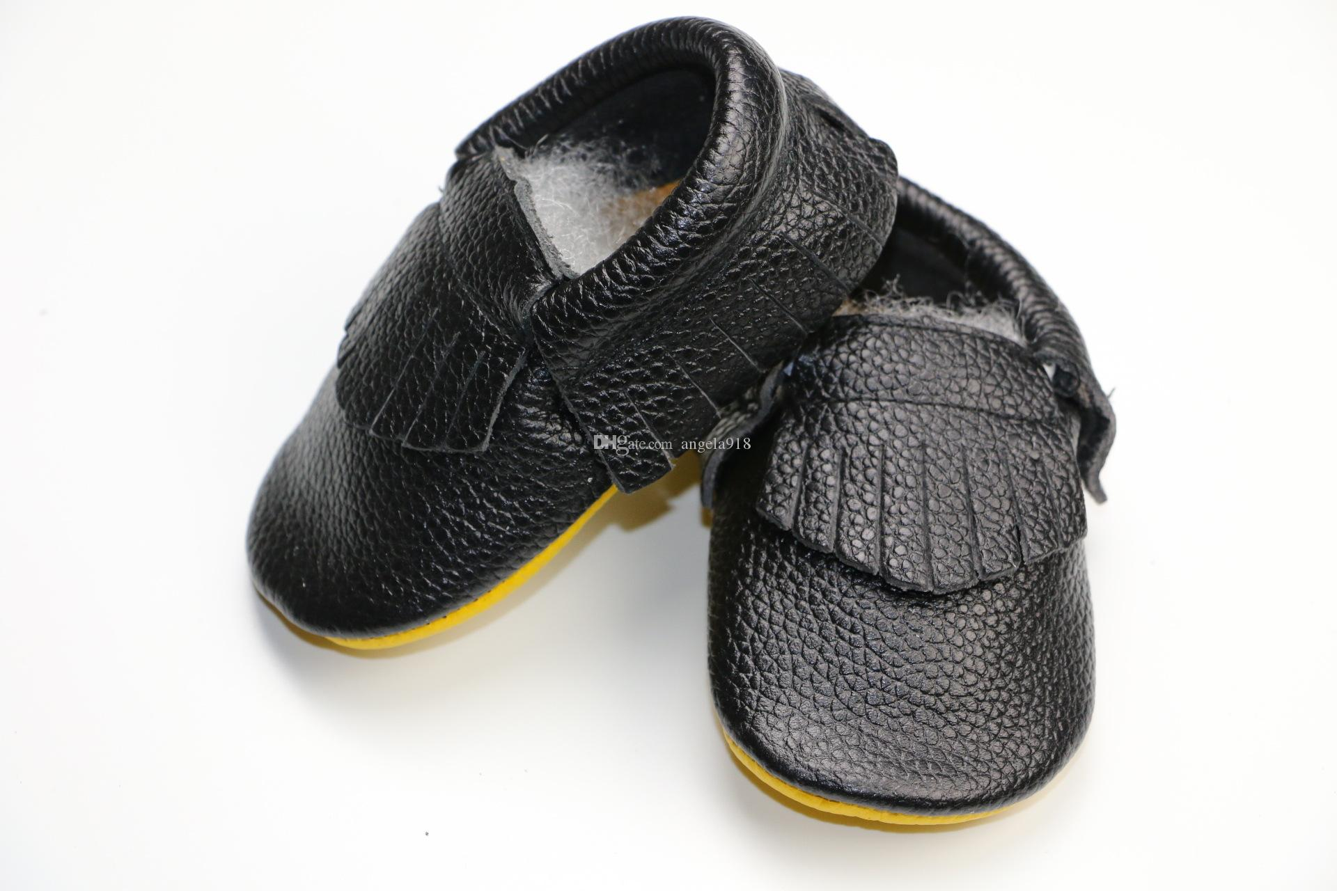 New Color matching infant baby First Walker Shoes baby tassels