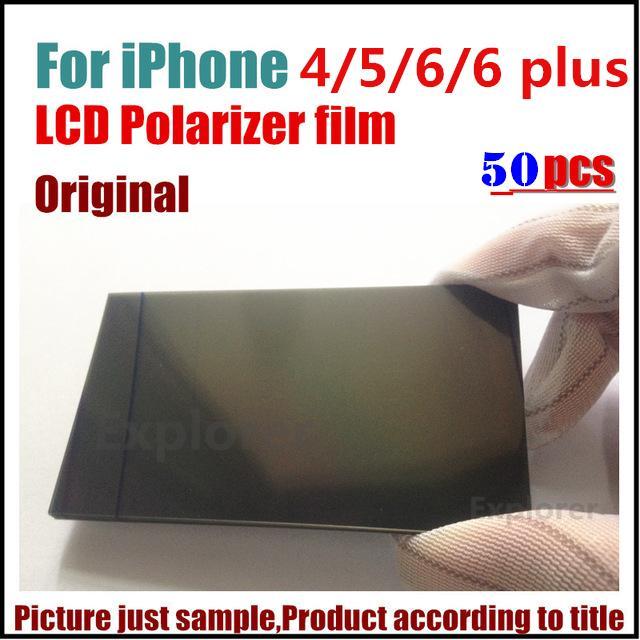 50 pcs original polarizador polarizador filme polarizado difusor para iphone 5 5s 5c 6 6 s 7 8 plus 4.7 5.5 polegada de substituição