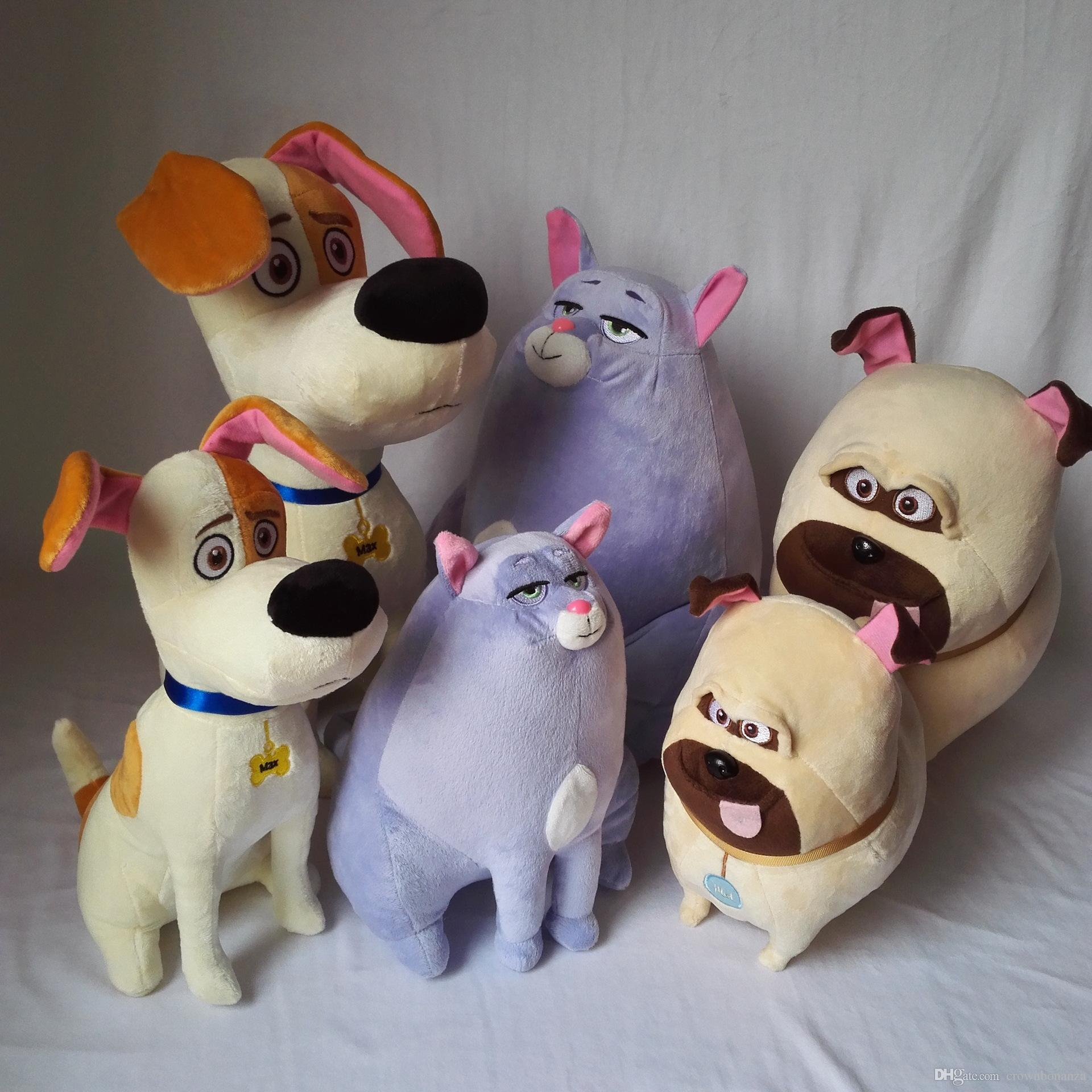 25CM The secret life of pets Plush toys Max Chloe Snowball bulldog
