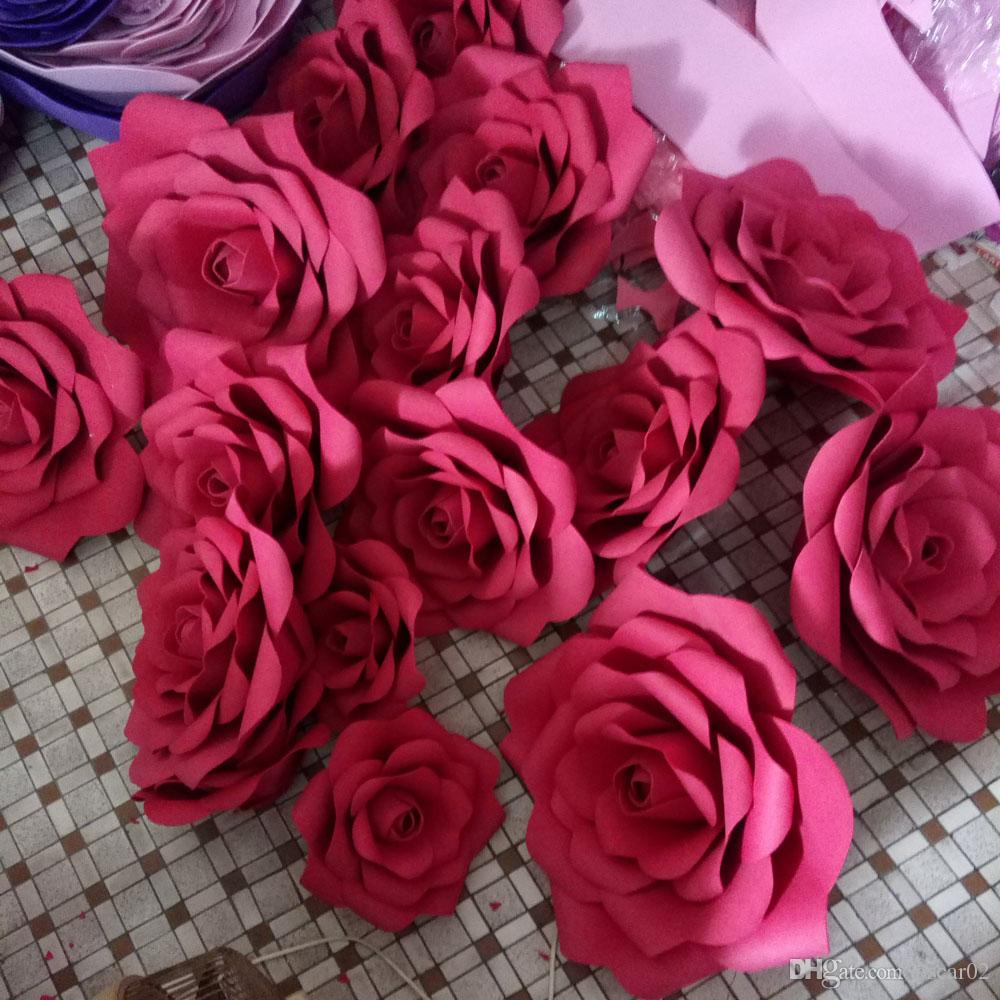 2018 Hot 3d 20cm Wedding Decoration Party Supplies Large Artificial