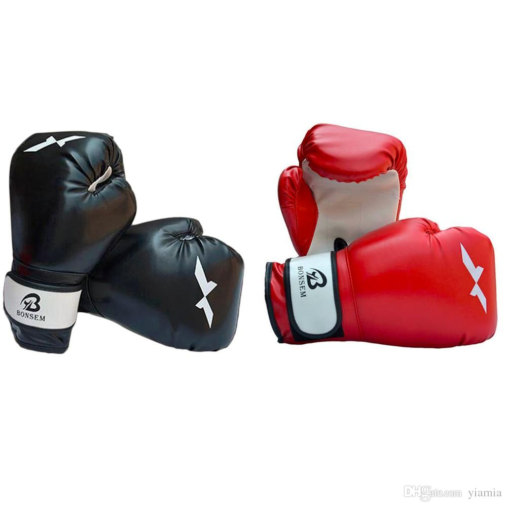 1 Pair Training Boxing Gloves New Style Boxing Mitts Sanda Karate Sandbag Taekwondo Fighting Hand Protector Gloves