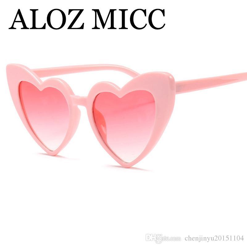 ALOZ MICC Neue Mode Herzförmige Sonnenbrille Frauen Vintage Herzförmige Sonnenbrille Design UV400 Oculos De Sol A343