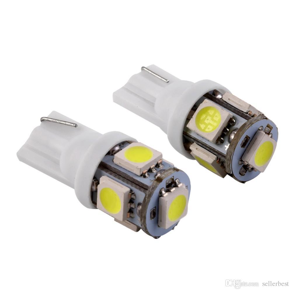 Оптовая Canbus T10 5smd 5050 светодиодные автомобильные светодиодные Canbus W5W 194 5050 SMD безошибочный белый свет лампы