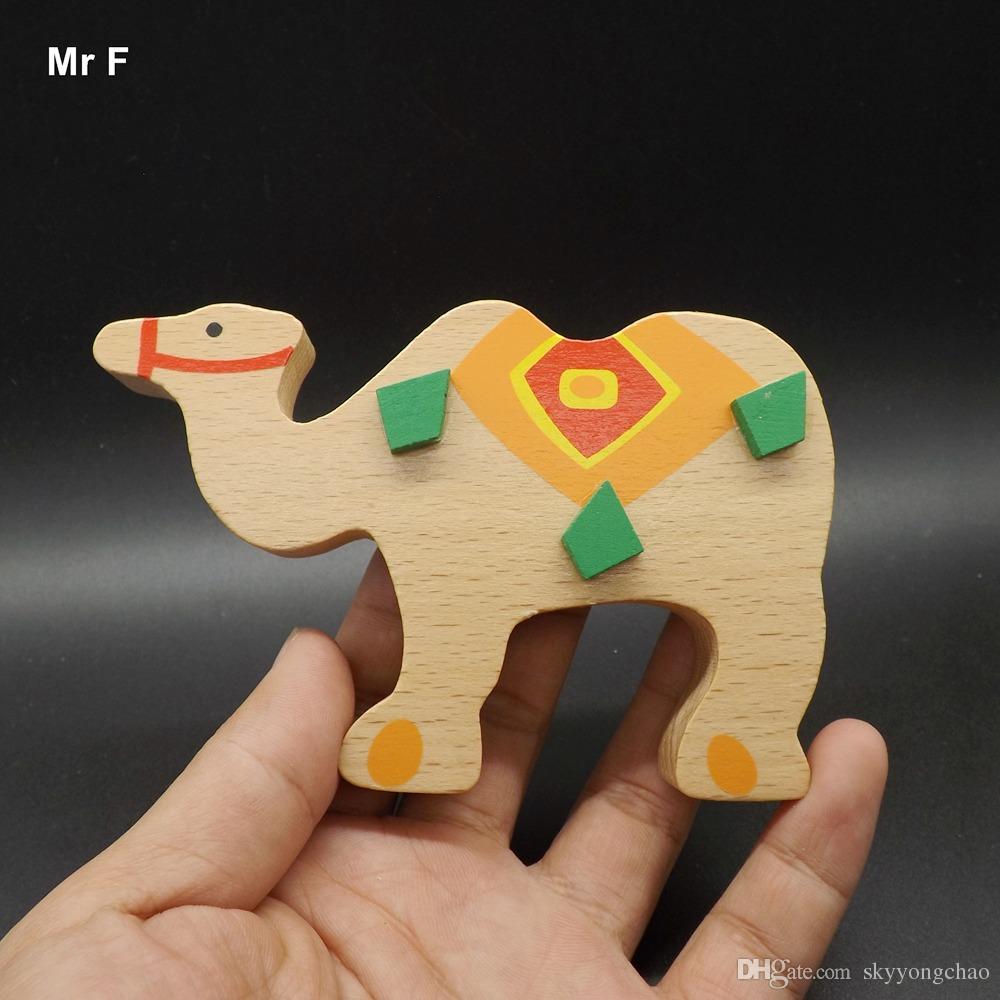Juguetes para bebés Montessori Juego educativo Elefante lindo Patrón Bloques de equilibrio Juguetes de madera Regalo de los niños para niños Bloque de la tira de animales lindos Equilibrio