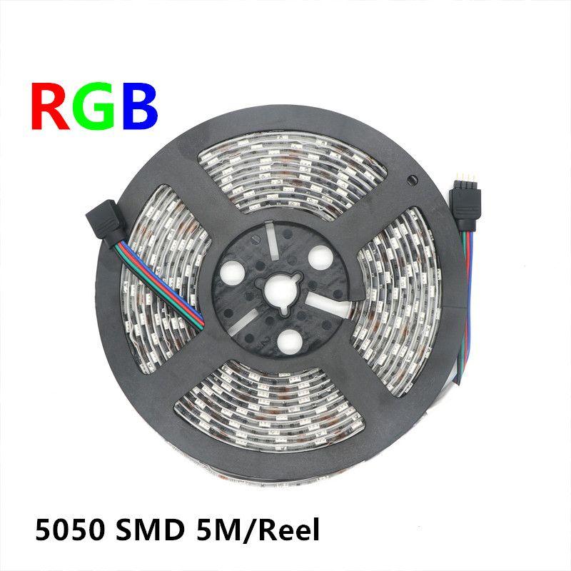 LED Strip Light 5050 SMD RGB Waterproof IP65 DC 12V Flexible Ribbon LED Strip Lights for Festival Garden Decoration
