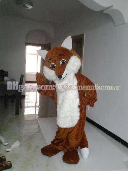 Fox Kleidung Freies Verschiffen, netten Qualitätsplüsch brown fox erwachsener Maskottchen Art Maskottchen Rabatt zu verkaufen.