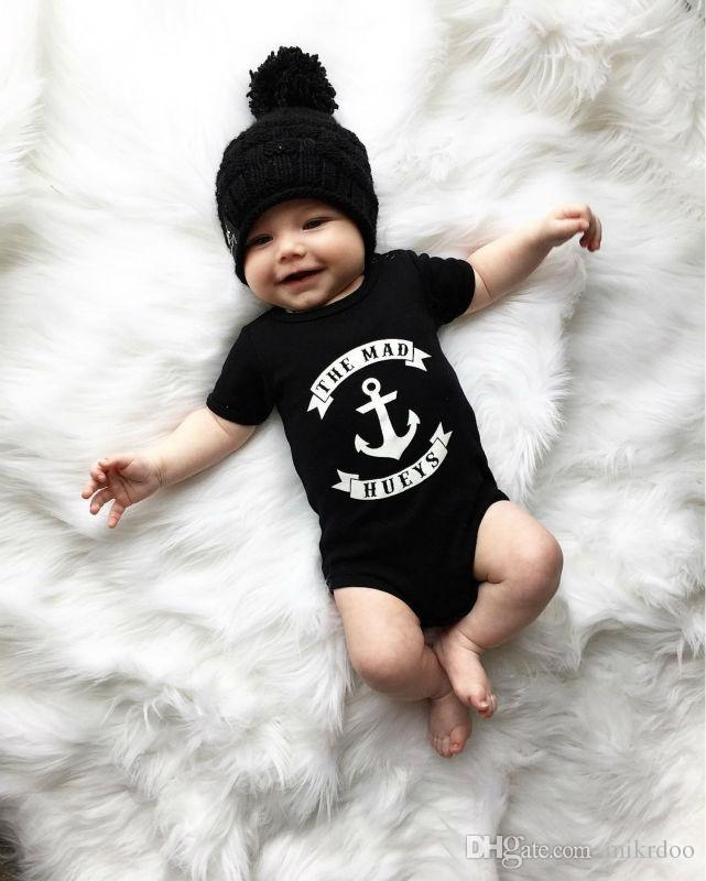 7b800a51bcd46 2019 Mikrdoo Fashion Baby Boys Clothes Kids Short Sleeve Romper The Mad  Hueys Infant Jumpsuit Stylish Casual Cotton Newborn Toddler Clothing Set  From ...