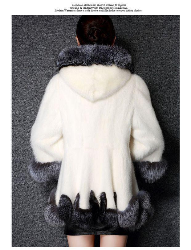 Faux mink coat