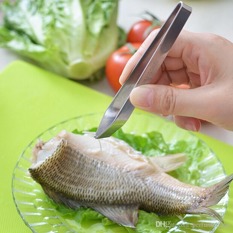 Оптовая нержавеющей стали рыбы кости Remover пинцет съемник пинцет щипцы пикап инструмент ремесло Горячий Новый ZA0453