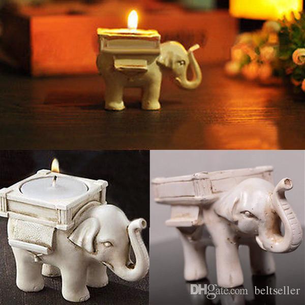Faveurs de mariage romantique Creative chanceux Elephant lampion Porte-cadeaux d'anniversaire de mariage avec photophores 10pcs / lot