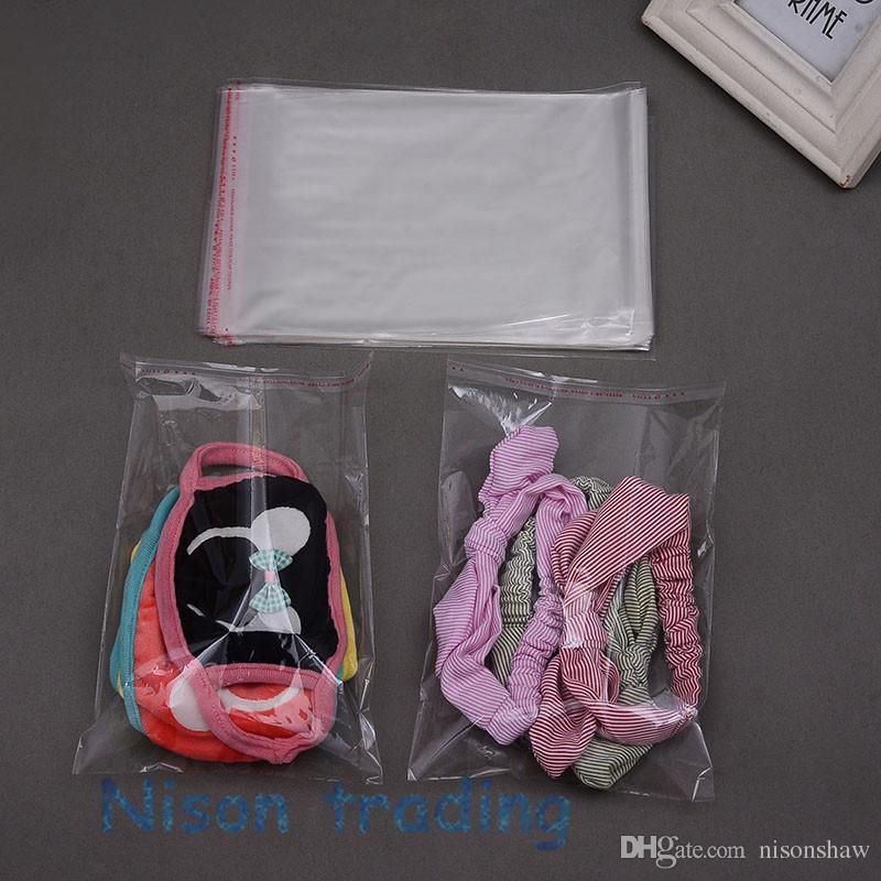 Personalizzazione chiare OPP autoadesiva sacchetti-26 * 35cm 100pcs / pack sacchetto di plastica trasparente monili sé sigillo, colla riapribile nastro poli tasca