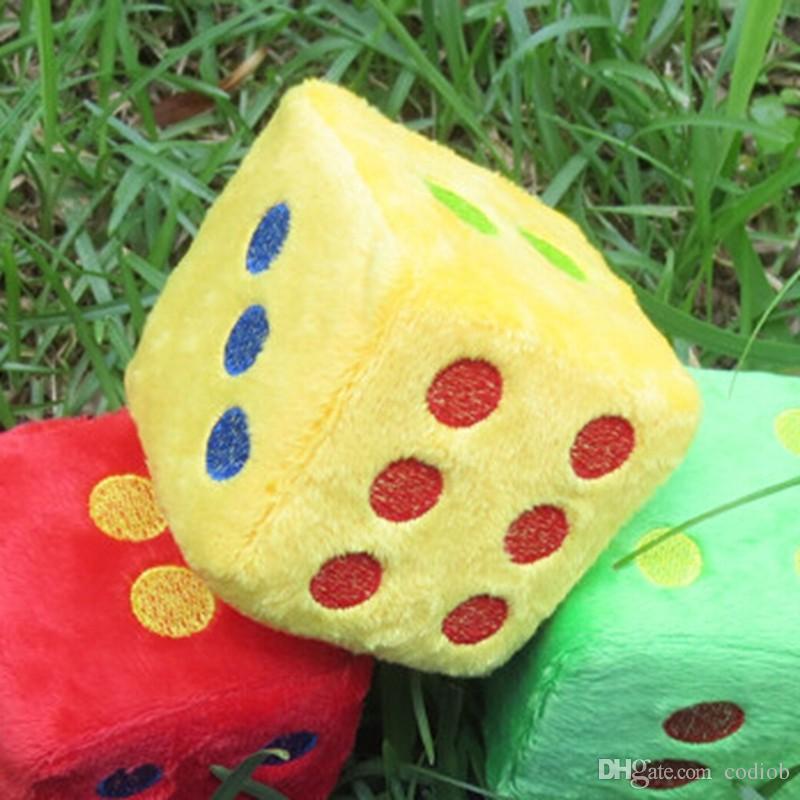7см Большой размер Плюшевые Ткань Dice Губка Игрушка Детские партии Игры и игрушки Обучающие развлечения Кубики игры Хорошая цена Высокое качество # S26