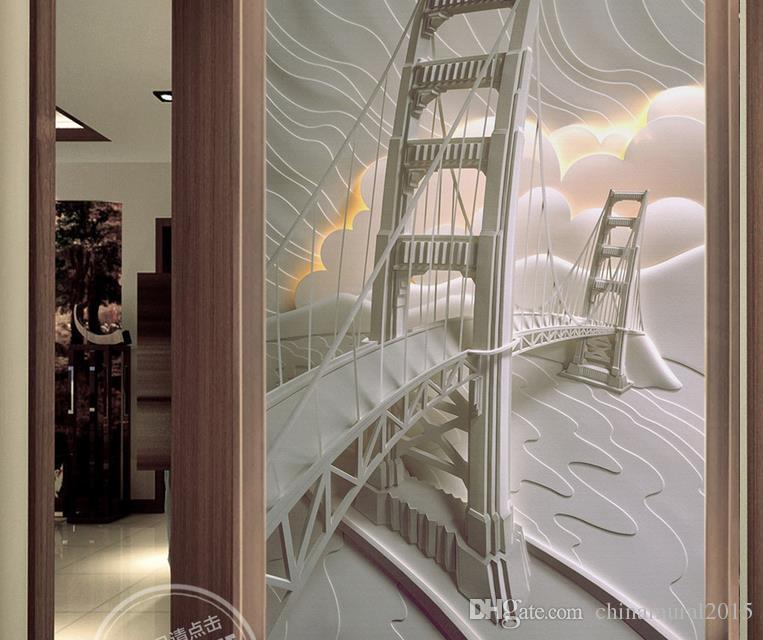 papel de parede personalizado para paredes em relevo San Francisco, EUA mural 3d papel de parede