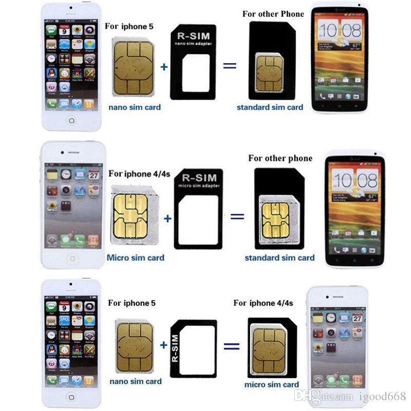 carte sim iphone x 4 In 1 Mobile Phone Nano Micro Standard SIM Card Adapters Eject