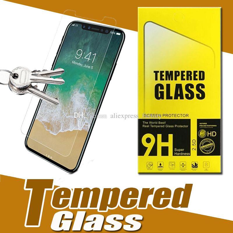 واقي شاشة صلب مقاوم للكسر بحماية زجاجية 9H لهاتف أيفون 11 Pro Max XS XR X 8 7 6 Plus 5 SE