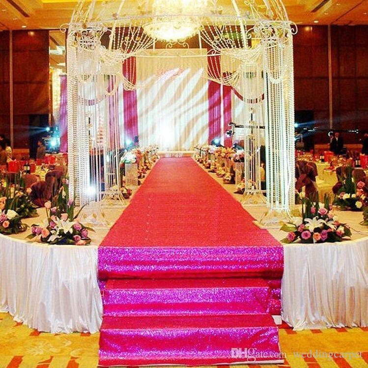 1.4 m 와이드 x 10 m / 롤 반짝이 진주 빛 웨딩 카펫 패션 통로 러너 티 역 카펫 파티 장식 용품