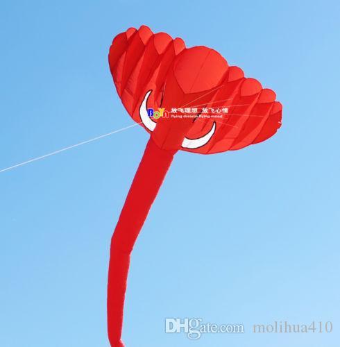 2017 büyük 4 m tek hat Stunt kırmızı Filler GÜÇ Spor Uçurtma açık oyuncaklar