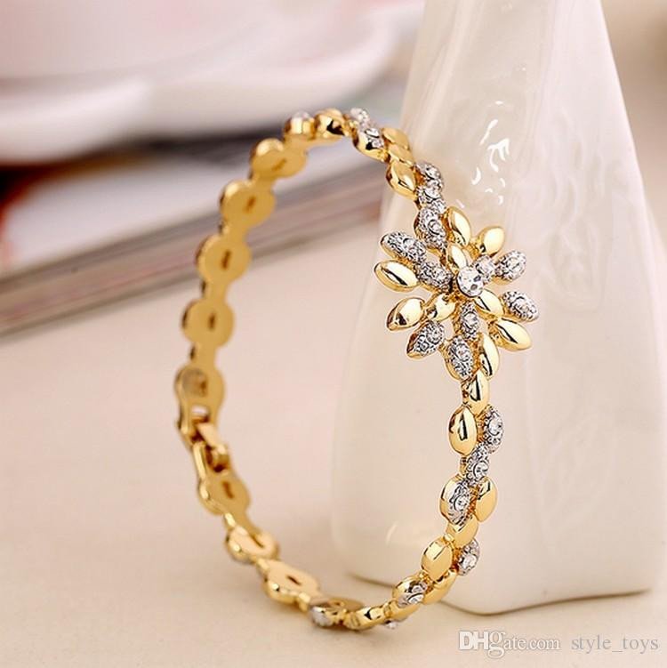 New Brand Luxury 18K Gold Plated Wheat Style Rose Gold Bracelet ...