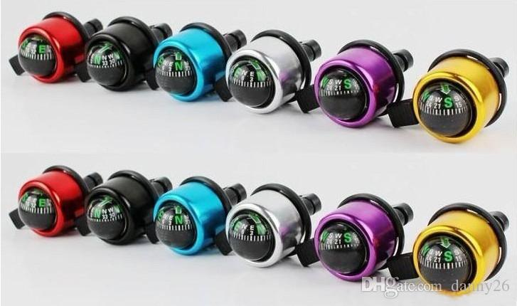 New Aluminum alloy Bicycle Bell Compass BIke Bell Sound Resounding High Quality Bike Handlebar Ring Horn 6 Color Optional