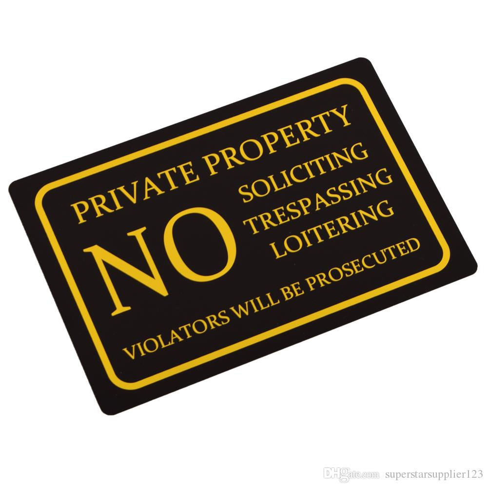 Hot Private Property No Trespassing Door Signs Vintage Square Aluminium  Alloy Plaque High Quality Fast Shipment Houses Decoration Houses  Decorations