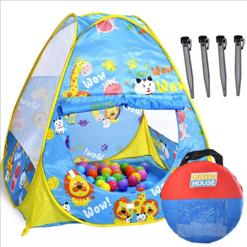 Every kid is a little prince or princess a mickey mouse clubhouse tent will no doubt give them a good feeling. There are ultra large beach kids toy tents ...  sc 1 st  DHgate.com & baby tent toy ball house play happy big size 105*105cm cloth good ...