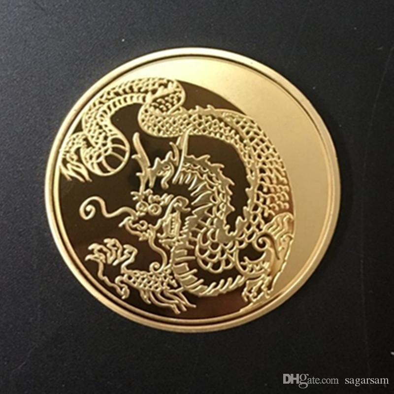 10 pcs The Russia Dragon 100 Rubles 24k real gold and silver plated souvenir metal coin
