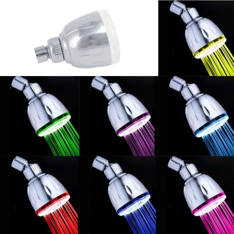 Controle Automático de 7 Cores Mudança Água Brilho LED Luz Cabeça de chuveiro Ducha Aguaceiros Heads chuveiro de chuva duchas chuveiro acessórios