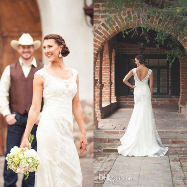 Gorgeous Country Wedding Dresses Fitted Mermaid Sheer Scoop Neck Sleeveless Open Back Beach Garden Lace Bridal Gowns With Sweep Train Canada 2020 From Forever Love U Cad 274 80 Dhgate Canada,Wedding Dresses Toronto Plus Size