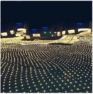 3m * 2m 200 LED Net Mesh Fairy String Light Christmas Wedding Party Fairy String Light con 8 Funciones Controlador UE AU Plug